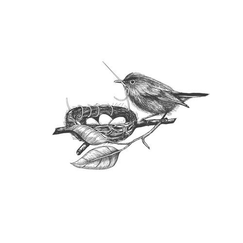 Bird vintage logo