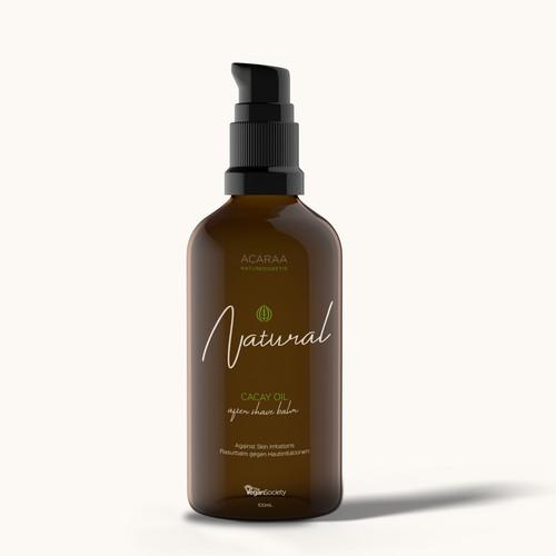 Bottle Label Concept for After Shave Balm