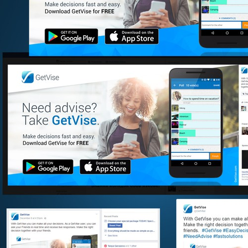 Banner ad design for GetVise