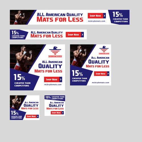 Banners for 'Mats for Less'
