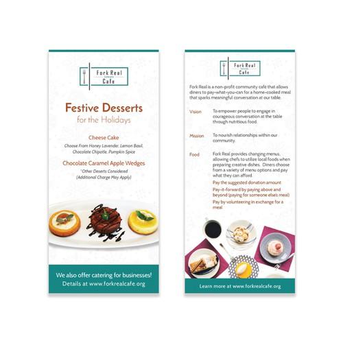 Rack Card Design for a Community Cafe