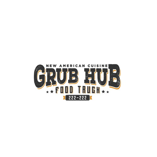 create a clean, unique, vintage logo design for a food truck in Asheville, NC
