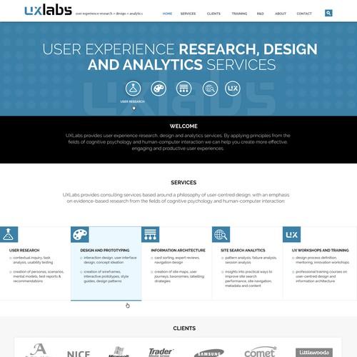 Web design for UXLAB