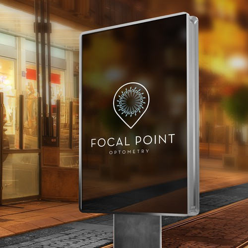Focal Point Optometry logo and branding