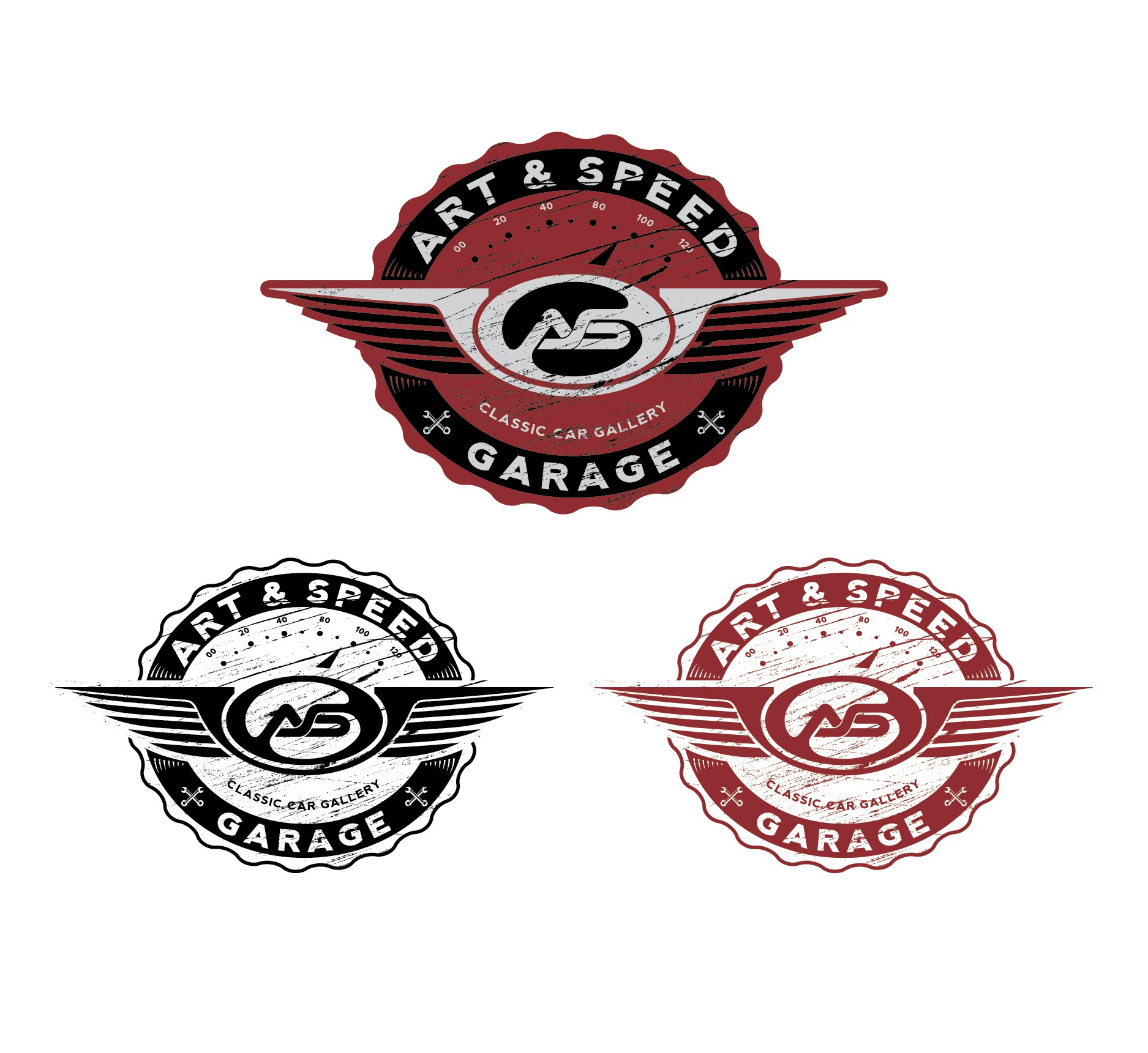 "Create a Vintage/Retro Sign for ""Art & Speed Garage"""