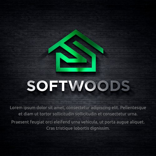 Bold and clean logo for Softwoods