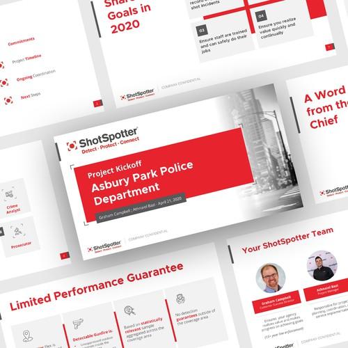 Presentation design for ShotSpotter
