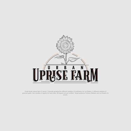Logo concept for a hip oregon micro farm