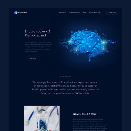Wisecube website design