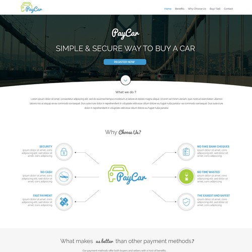Clean & Modern Design for Car Finance Site