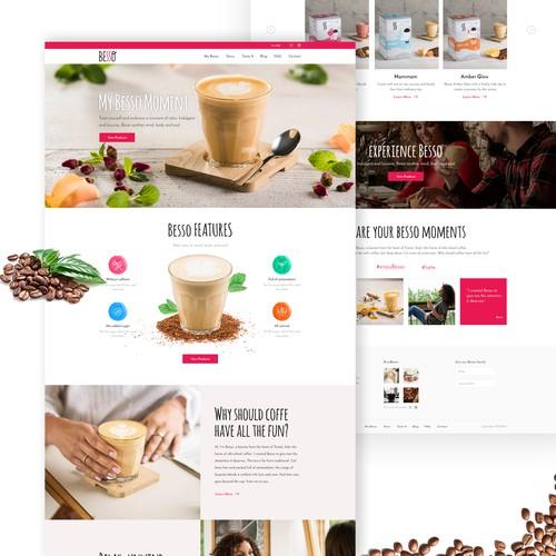 Web Design for Besso Coffee
