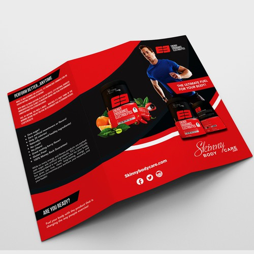 TRIFOLD BROCHURE FOR ENERGY PRODUCT