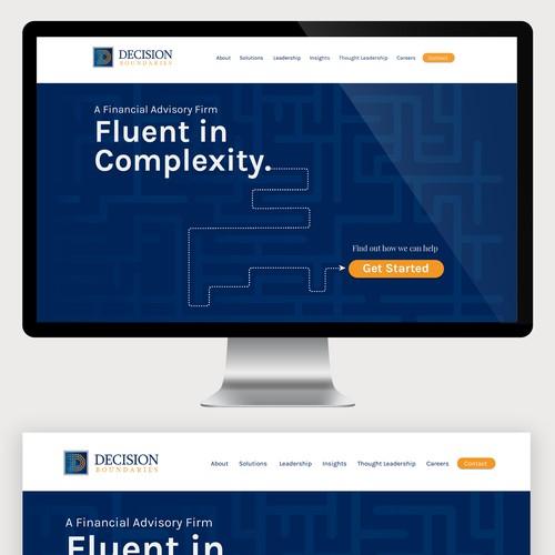Website design for Decision Boundaries