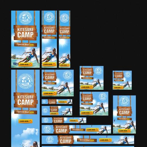 Kitesurf Banner - Sommer, Sonne - Kitecamp Special