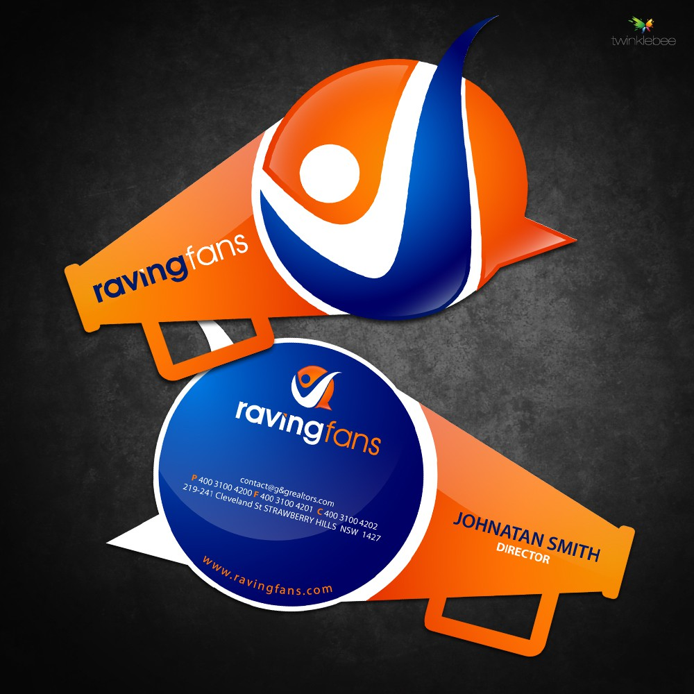 Create An outstanding Business Card & Stationary design for Raving Fans Group