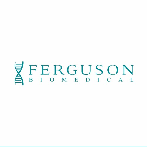 Clean and simple logo for Ferguson Biomedical