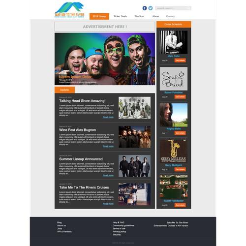 redesign web concert portal