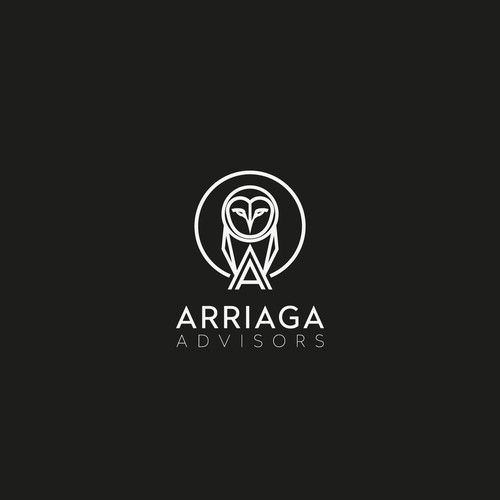 Minimalistic logo for Arriaga Advisors