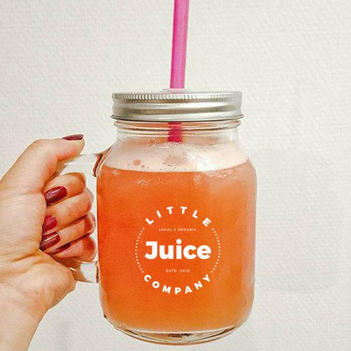 logo for hipster juice company