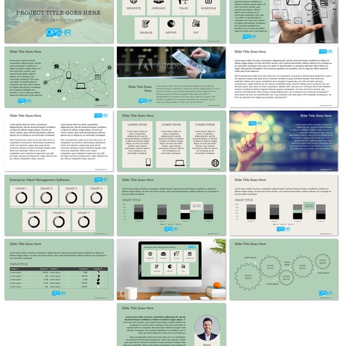 Presentation template for a technology based company