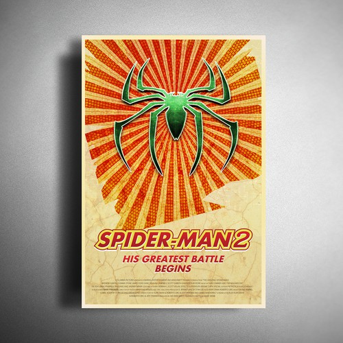Retro Spider poster