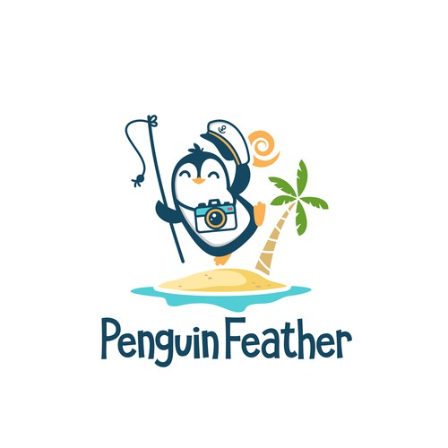 logo for penguin feather