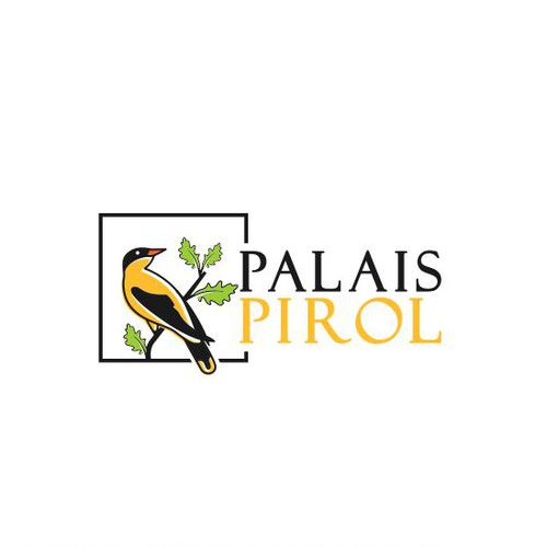 The logo for lodging with the concept of the palais name