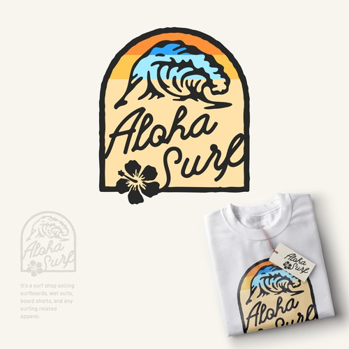 Surf apparel logo contest runner