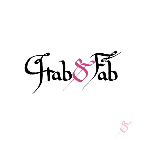 Calligraphic logotype for Hab&Fab