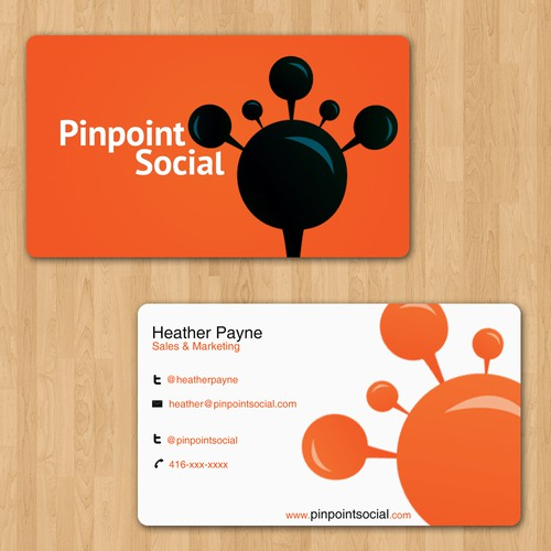 Facebook Application Pinpoint Social needs sexy business cards!