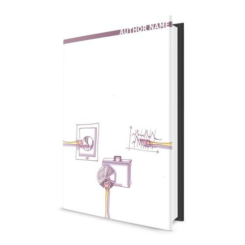 cartoon cover for a marketing&financial book