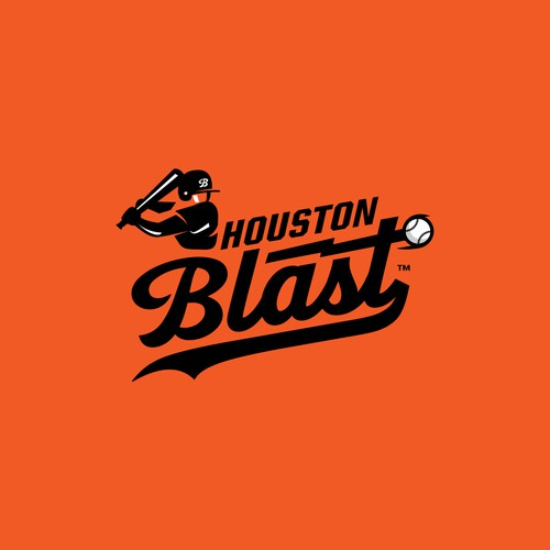 Logo for a youth baseball team- Houston Blast