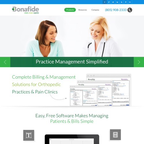 Clean, modern medical website