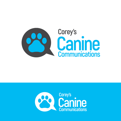 Unique and clever logo for residential dog training company