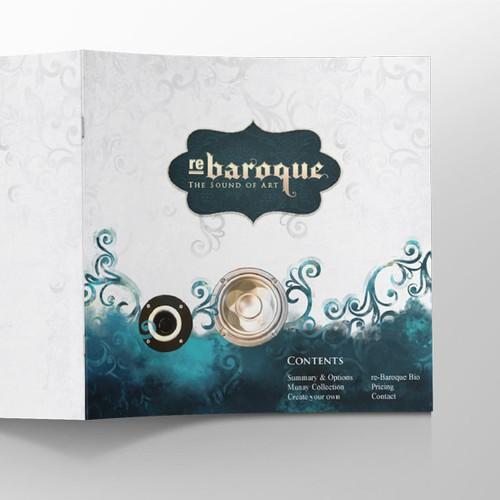 Artistic brochure concept for re-baraque