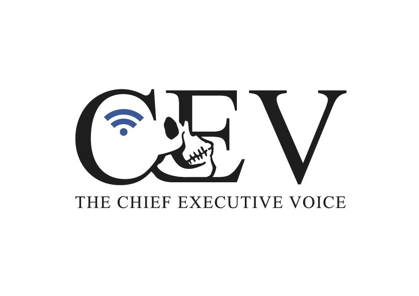 The Chief Executive Voice (CEV) Industrial Skull Logo