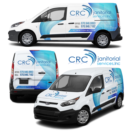 CRC Janitorial Services Vehicle Wrap