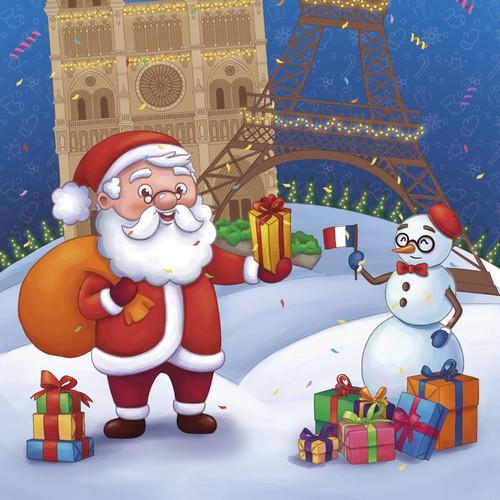 Illustration for children's New Year gift