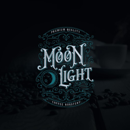 Logo Concept for Moonlight Coffee Roastery