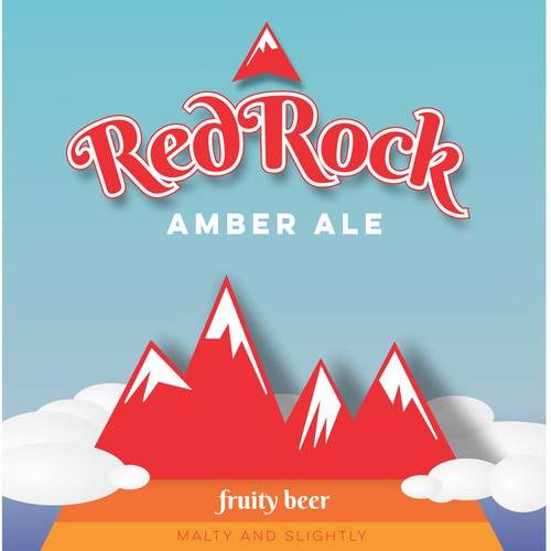 Red Rock amber ale - beer label
