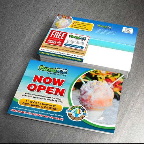 "Create a Refreshing Direct Mail Coupon & Storefront ""Now Open"" Announcement!"