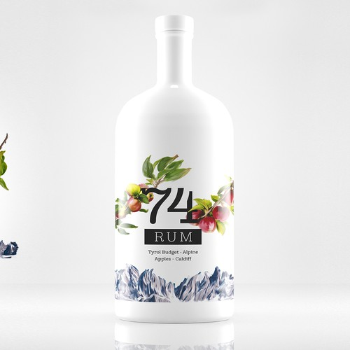 74 Rum Packaging