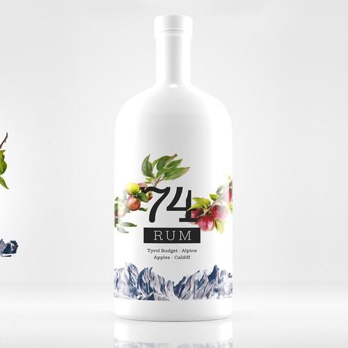 74 Rum Packaging