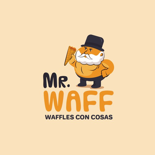 Logo character for waffle house