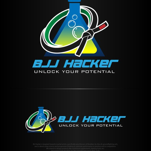 """BJJ Hacker"": Martial arts website needs a logo!"