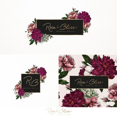 Rose & Bliss modern bridal