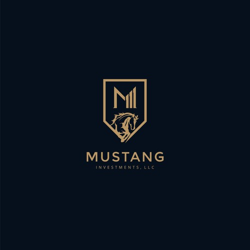 Classy Decorative Logo for Mustang Investments LLC