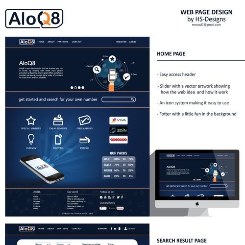 Aloq8 web design
