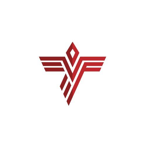 Monoline Falcon symbol for Falcon Company
