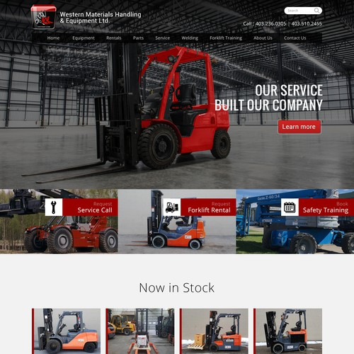 Home/Inner WordPress theme design for a forklift (industrial equipment) supplier